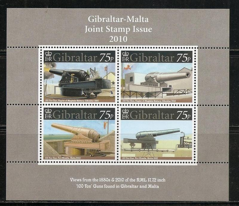 Gibraltar 1221 2010 Cannons s.s. MNH