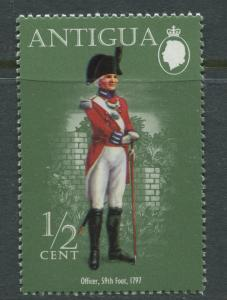 Antigua - Scott 329 - Uniforn Series -1974 - MLH - Single 1/2c Stamp