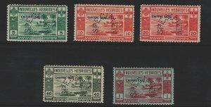 French New Hebrides  Sc#J6-J10 MNH SPECIMEN