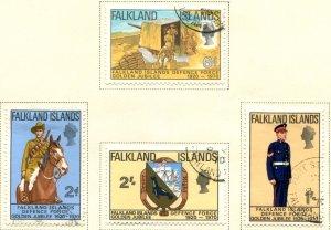 Falkland Islands SC# 188-91 Defense Forces set used scv $3.30