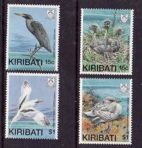 Kiribati-Sc#522-5-Unused NH set-Birds-1989-