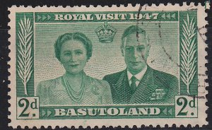 Basutoland, King George and Queen Elizabeth, Royal Visit Sc.36, Used