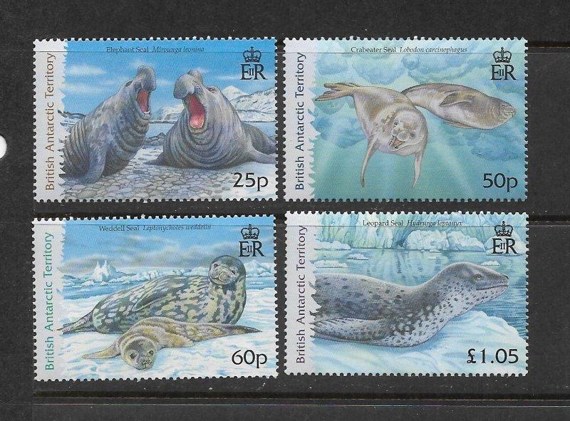 BRITISH ANTARCTIC TERRITORY #374-7  SEALS   MNH