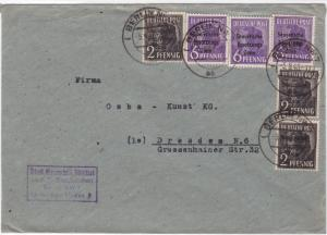 Germany Soviet Zone 1948 Berlin to Dresden  stamps cover  R20721