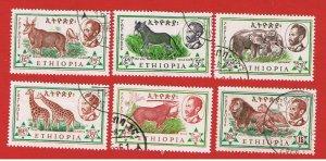 Ethiopia #369-374  VF used  Animals   Free S/H