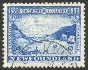 NEWFOUNDLAND-1933 Sir Humphrey Gilbert 9c Ultramarine Sg 243 FINE USED V46305