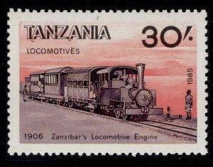 TANZANIA QEII SG449, 1985 30s black, brownish black & red, NH MINT.