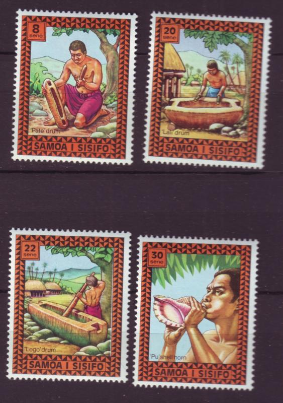 J29634 Jlstamps 1975 samoa set mnh #420-3 music drums etc
