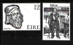 Ireland-Sc#418-19-unused NH set-Folklore-Eriugena-1977-
