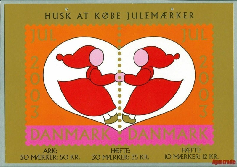 Denmark. Christmas Seal. 2003. 1 Post Office,Display,Advertising Sign. Santa