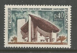 FRANCE    1101  MNH  CHAPEL OF NOTRE DAME STAMP