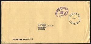 NORFOLK IS 1967 Official mail cover to Australia...........................94010