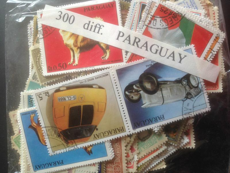 1500 Different Paraguay Stamp Collection