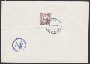 GB LUNDY 1982 cover - Puffin stamp POSTED ON WAVERLEY STEAMER...............F840