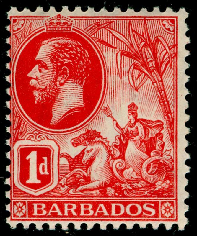 BARBADOS SG172a, 1d scarlet, NH MINT. Cat £42.