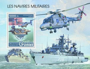 Z08 IMPERF GU190310b GUINEA (Guinee) 2019 Military ships MNH ** Postfrisch
