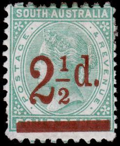 South Australia Scott 94, perf. 10x12.5 (1891) Mint H F, CV $8.00 M