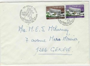 Geneva United Nations 1974  stamps cover ref 21660