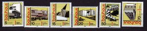 J22726 Jlstamps 1980 germany ddr set mnh #2101-6 buildings