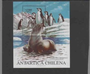 CHILE #1285  1999  CHILEAN ANTARCTICA      MINT VF NH  O.G  S/S  b