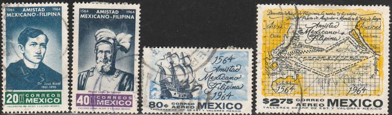 MEXICO 956-957, C300-C301, 400Yrs of Mex-Philippine Relation USED (178)