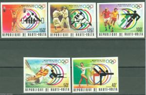 UPPER VOLTA MONTREAL OLYMPICS '76 IMPERFORATED SET SC#387/89 C228/29C  MINT NH