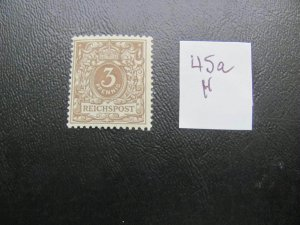 GERMANY 1889  HINGED  MINR.  45a NUMERAL $100