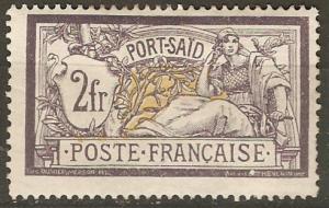 France Off Egypt Pt Said 31 Mi 29 MH F/VF 1902 SCV $15.00