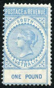South Australia SG199 One Pound Blue Fresh M/Mint (hinge remainder)