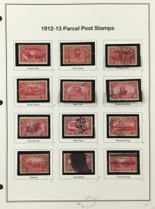 US Parcel Post Stamps from 1912-1913    Scott  CV $370.00    AB