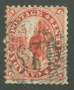 CANADA #15 USED 4-RING NUMERAL CANCEL 37