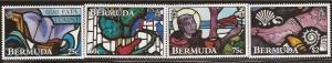 Bermuda - 1992 Stained Glass Windows - 4 Stamp Set - Scott #634-7