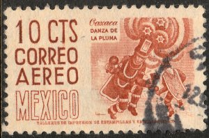 MEXICO C187, 10c 1950 Definitive wmk 279 Used. F-VF.  (519)