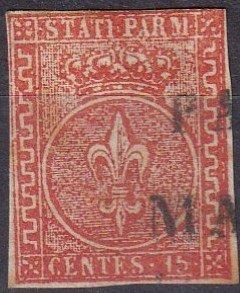 Italy Parma #7 F-VF  Used CV $325.00 (Z7958)
