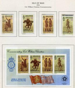 SELECTION OF US BICENTENNIAL STAMPS AND S/S MINT NEVER HINGED AS SHOWN