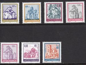 Yugoslavia   #2255-2261   1994  MNH  definitives   churches