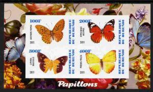 Burundi 2011 Fauna of the World - Butterflies #3 imperf s...