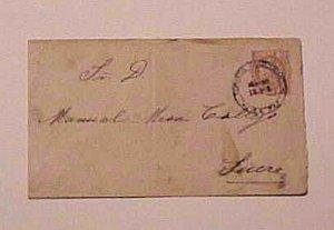 BOLIVIA  ENVELOPE 1890 LA PAZ TO SUCRE