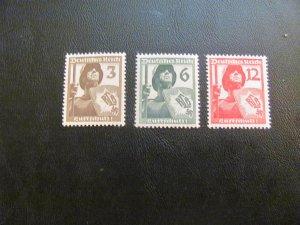 GERMANY 1937 MNH SC# 481-3 SHIELD BEARER SET $15 (113)