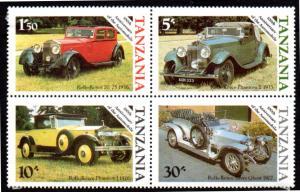 TANZANIA 263-266 MH BLOCK/4 SCV $2.80 BIN $1.40 CARS