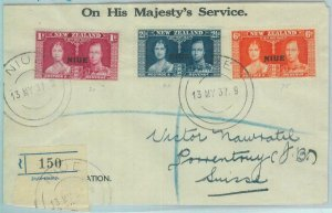 83406 - NIUE  New Zealand - POSTAL HISTORY - FDC COVER to SWITZERLAND 1937