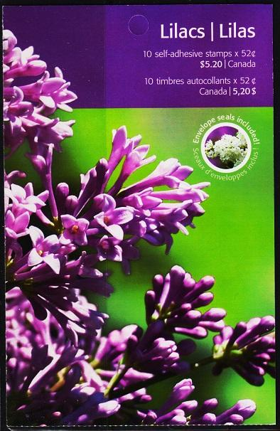 Canada.2006? Lilacs Booklet. Unmounted Mint