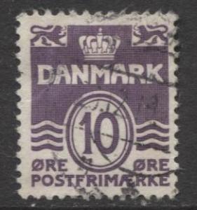 Denmark - Scott 230 - Definitive Issue -1938 - Used - Single 10o Stamp