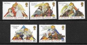 CAYMAN ISLANDS SG994/9 2002 CHRISTMAS   MNH
