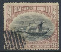 North Borneo  SG 102 CTO  perf 14 please see scan & details