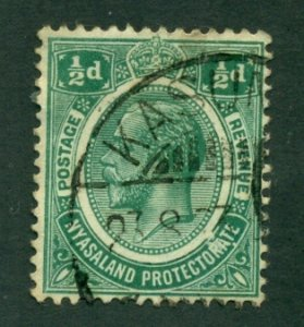 Nyasaland Protectorate 1913 #12 U SCV(2020) = $2.25