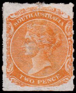 South Australia Scott 54 (1868) Mint H F, CV $160.00 M