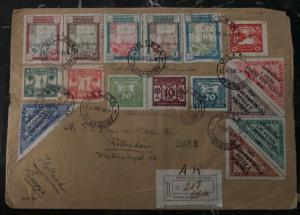 1934 Villeta Paraguay LZ 127 Graf Zeppelin Oversized Cover To Rotterdam Holland