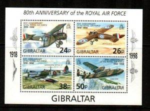 Gibraltar #759  MNH  Scott $5.00   Souvenir Sheet