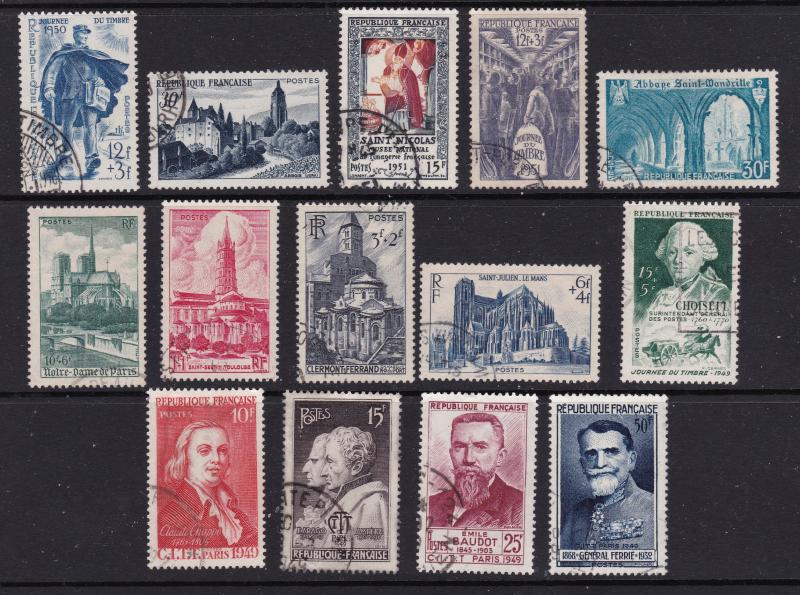 France small lot early commem/scenic used